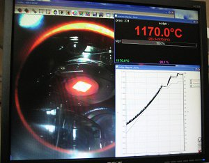 Laser heater and temperature