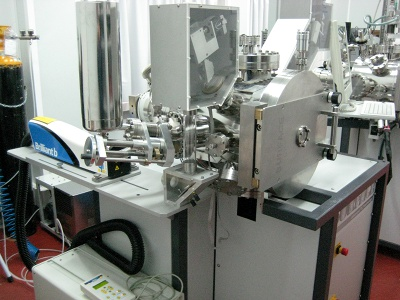PLD Workstation with MAPLE system, dual laser (YAG for IR, Excimer for UV), and dual laser scanner