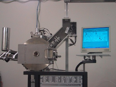 PLD Workstation with MAPLE system and laser scanner